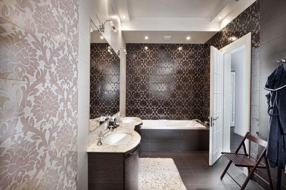 Piastrelle bagno damascate. beautiful idea bagno moderno con in