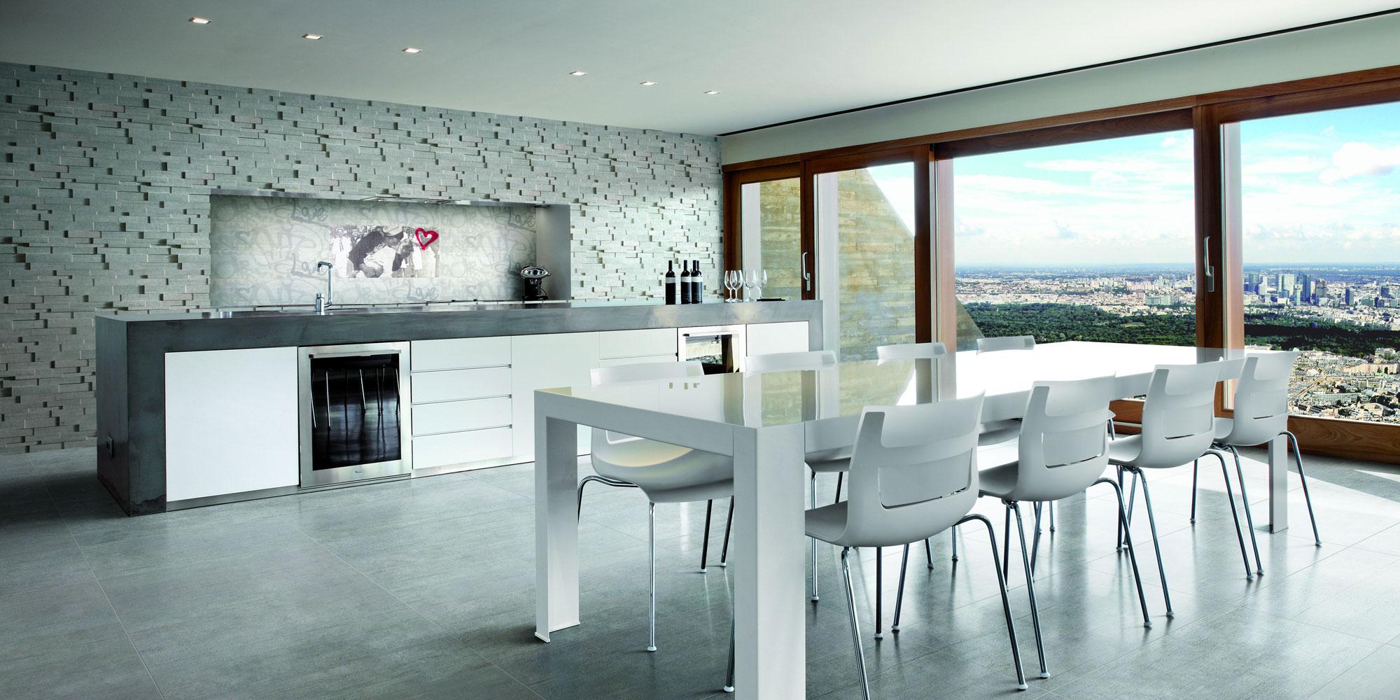 premium fliesen bodenfliesen betonoptik modern holzoptik 48x97cm grau kalibriert. Black Bedroom Furniture Sets. Home Design Ideas